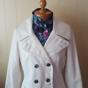 True Vintage white 1960s pleather mod jacket